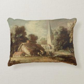 Thomas Gainsborough - Landscape with Cottage Decorative Pillow