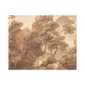 Thomas Gainsborough - Landscape with Cows Canvas Print