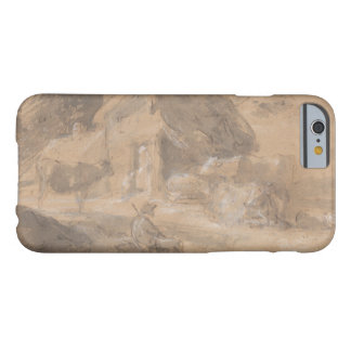 Thomas Gainsborough - Open Landscape with Figures Barely There iPhone 6 Case