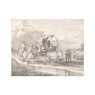 Thomas Gainsborough - Open Landscape with Horsemen Canvas Print
