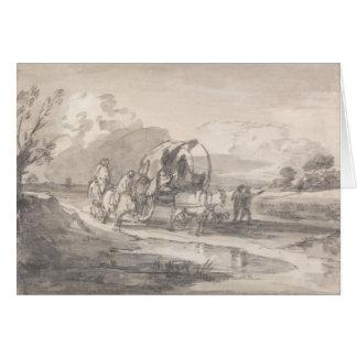 Thomas Gainsborough - Open Landscape with Horsemen Card