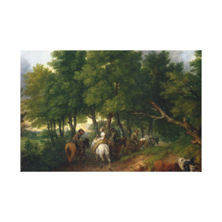 Thomas Gainsborough - Road from Market Canvas Print
