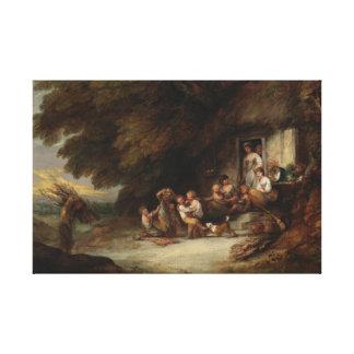 Thomas Gainsborough - The Cottage Door Canvas Print
