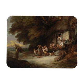 Thomas Gainsborough - The Cottage Door Rectangular Photo Magnet