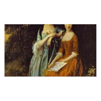 Thomas Gainsborough- The Linley Sisters Business Card Templates