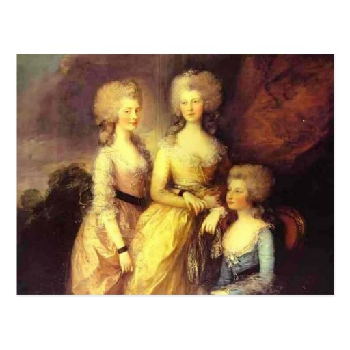 Thomas Gainsborough-Three daughters of George III Post Cards