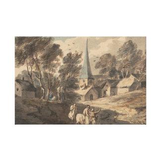Thomas Gainsborough - Travellers on Horseback Canvas Print