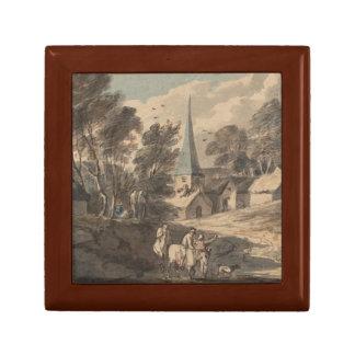 Thomas Gainsborough - Travellers on Horseback Jewelry Box