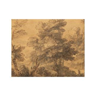 Thomas Gainsborough - Wooded Landscape Canvas Print