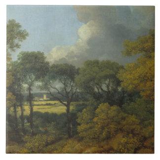 Thomas Gainsborough - Wooded Landscape Ceramic Tiles