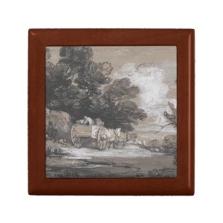 Thomas Gainsborough - Wooded Landscape Keepsake Box