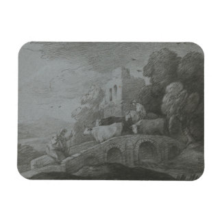 Thomas Gainsborough - Wooded Landscape Rectangular Photo Magnet