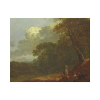 Thomas Gainsborough - Wooded Landscape with a Man Canvas Print