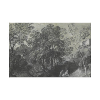 Thomas Gainsborough - Wooded Landscape with Figure Canvas Print