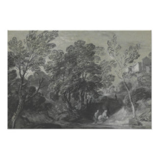 Thomas Gainsborough - Wooded Landscape with Figure Photo Print