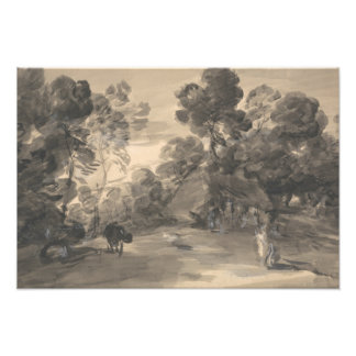 Thomas Gainsborough - Wooded Landscape with Figure Photograph