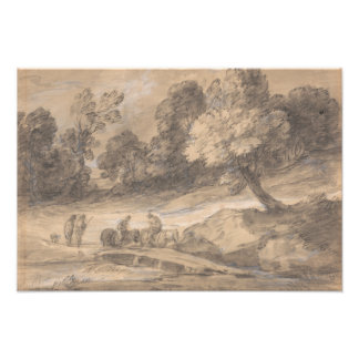 Thomas Gainsborough - Wooded Landscape with Figure Photographic Print