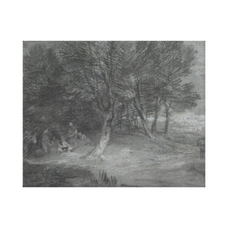Thomas Gainsborough - Wooded Landscape with Gypsy Canvas Print