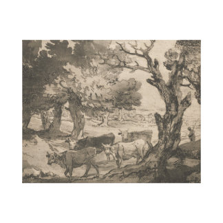 Thomas Gainsborough - Wooded Landscape with Herdsm Canvas Print