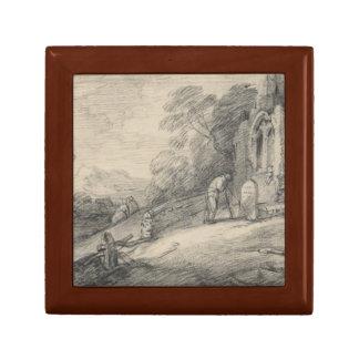 Thomas Gainsborough -Wooded Landscape with Peasant Trinket Box
