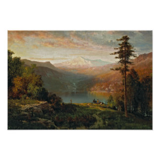 Thomas Hill - Indian by a Lake in a Majestic Poster