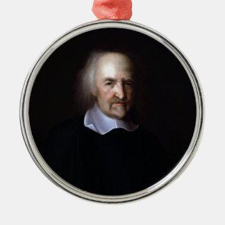Thomas Hobbes by John Michael Wright Metal Ornament