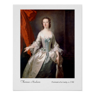 Thomas Hudson Portrait of a Lady Art Print