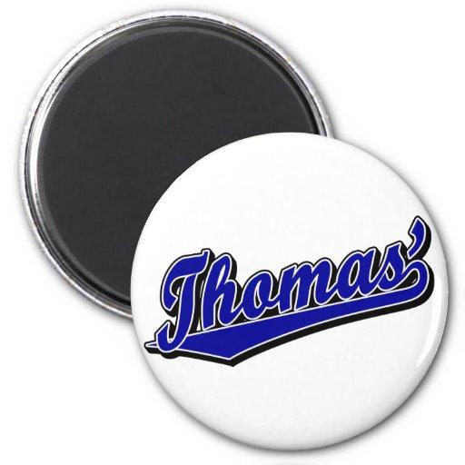 Thomas' in Blue Fridge Magnet