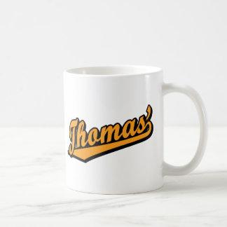 Thomas' in Orange Mugs