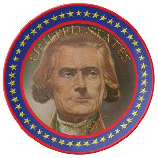 Thomas Jefferson 3rd president Porcelain Plates