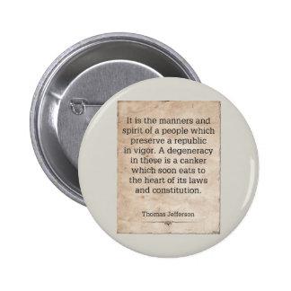 Thomas Jefferson #4 2 Inch Round Button