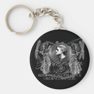 Thomas Jefferson a Hero on Resistance to Tyrants Basic Round Button Keychain