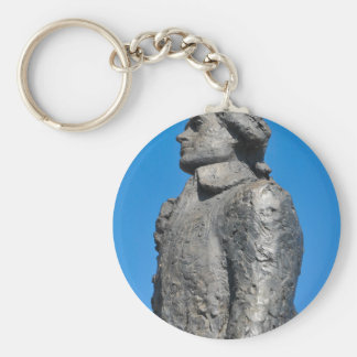 Thomas Jefferson Basic Round Button Keychain