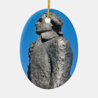 Thomas Jefferson Ceramic Oval Ornament
