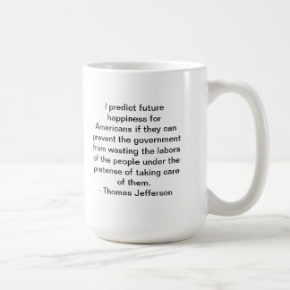 thomas jefferson classic white coffee mug