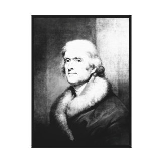 Thomas Jefferson.  Copy of painting _War Image Canvas Print