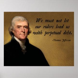 Thomas Jefferson Debt Quote Poster