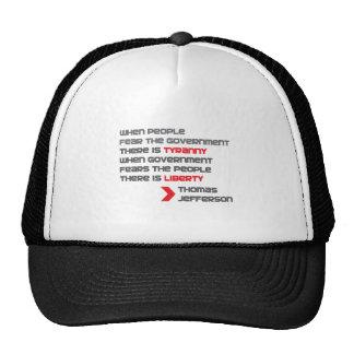 THOMAS-JEFFERSON TRUCKER HATS