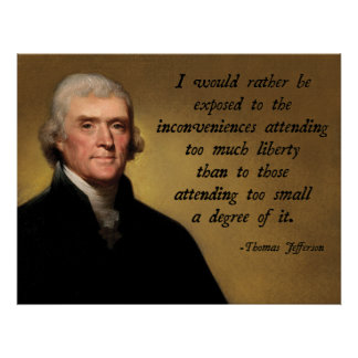 Thomas Jefferson Liberty Poster