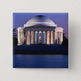Thomas Jefferson Memorial at Dusk 2 Inch Square Button