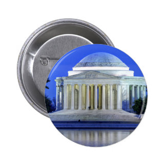 Thomas Jefferson Memorial At Night 2 Inch Round Button
