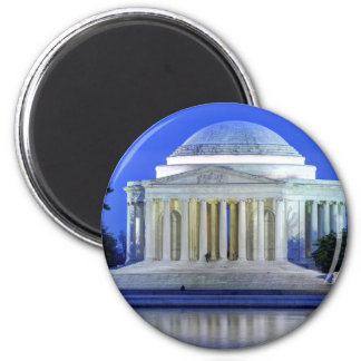 Thomas Jefferson Memorial At Night 2 Inch Round Magnet