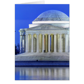 Thomas Jefferson Memorial At Night Card