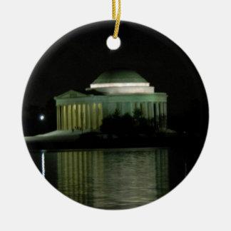 Thomas Jefferson Memorial at Night Ceramic Ornament