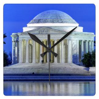 Thomas Jefferson Memorial At Night Clock
