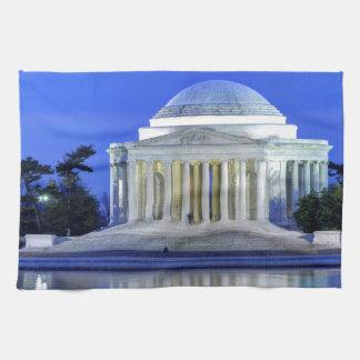 Thomas Jefferson Memorial At Night Hand Towels