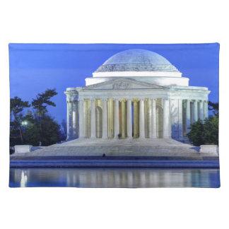 Thomas Jefferson Memorial At Night Place Mat