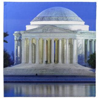Thomas Jefferson Memorial At Night Printed Napkin