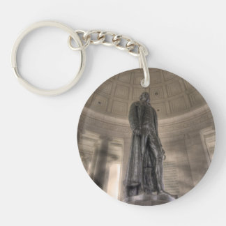 Thomas Jefferson Memorial Bronze Statue Single-Sided Round Acrylic Keychain