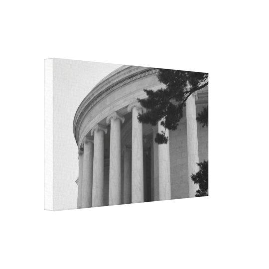Thomas Jefferson Memorial pillars photo canvas